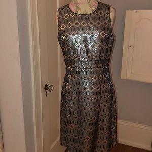 Metallic silver Tory Burch dress